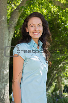 Beautiful woman standing in park