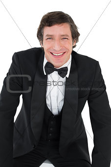 Portrait of groom smiling