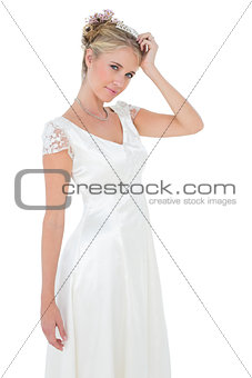 Portrait of confident bride posing