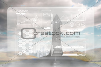Composite image of technology interface