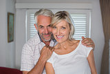 Portrait of a happy mature couple smiling