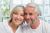 Close-up portrait of a happy mature couple