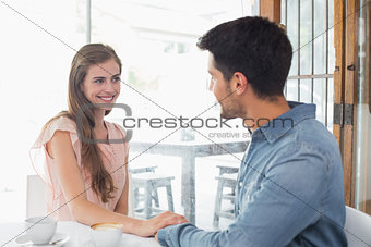 Romantic couple at coffee shop