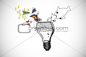 Composite image of abstract idea doodles