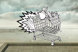 Composite image of e commerce doodle