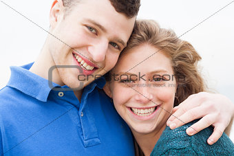 Attractive young beautiful couple