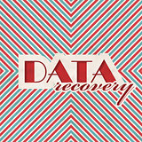 Data Recovery Concept on Striped Background.