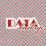 Data Backup Concept on Striped Background.