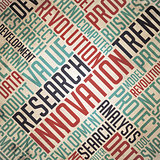 Research Innovation - Vintage Wordcloud.