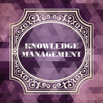 Knowledge Management. Vintage Background.