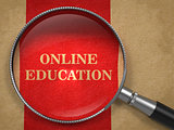 Online Education - Magnifying Glass.