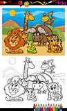 cartoon wild animals coloring page