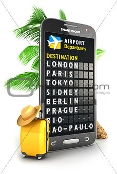 3d smartphone airport board