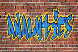 analytics word - as a graffiti