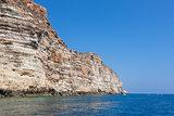 rocks in lampedusa island sicily - italy