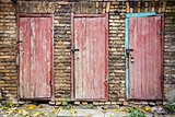Doors in a wall
