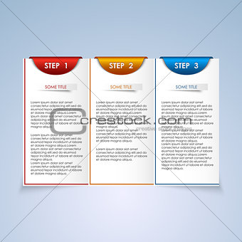Brochure step progress design element