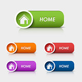 Colored rectangular web buttons home