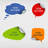 Colorful stickers dialog bubble template