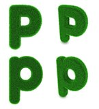 Letter P made of grass