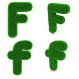 Letter F made of grass