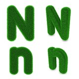 Letter N made of grass