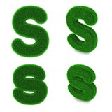 Letter S made of grass