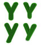 Letter Y made of grass