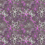 Floral butterfly abstract background, seamless