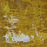 3d abstract industrial grunge wall backdrop in yellow white