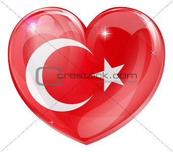 Turkish flag love heart
