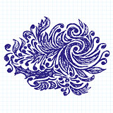Vector Sketch Background With Pen Drawn Patterns