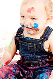 cute little toddler baby colorful creative