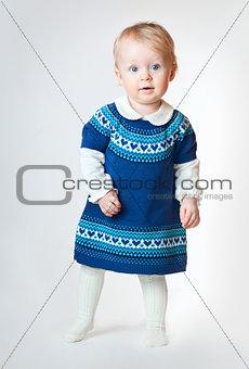 Little baby girl standing