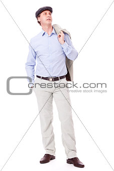 adult successful smiling man in casual business outfit isolated