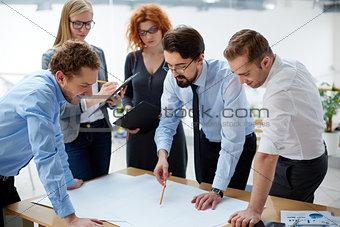 Looking at blueprint