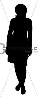 a lady silhouette vector