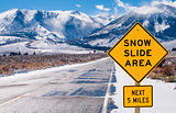 Snow Slide Area Sign