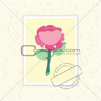 postage stamp rose