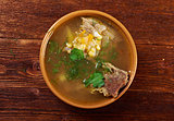 Pea soup with beef ribs