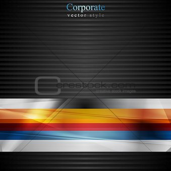Abstract stripes vector design