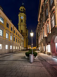 Theatinerkirche and Odeonplatz in the Evening, Munich, Bavaria,