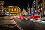 Old Town Hall and Marienplatz in the Night, Munich, Bavaria, Ger