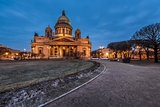 Saint Isaac's Cathedral in the Evening, Saint Petersburg, Russia