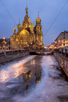 Church of the Savior on Spilled Blood in the Morning, Saint Pete