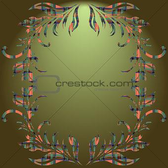Floral elements green gradient background