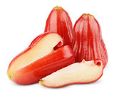 Rose apples or chomphu isolated on white