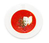 Borsch top view