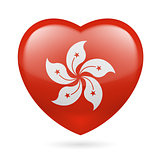 Heart icon of Hong Kong