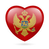 Heart icon of Montenegro